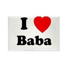 I heart Baba Rectangle Magnet