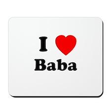 I heart Baba Mousepad