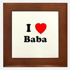 I heart Baba Framed Tile