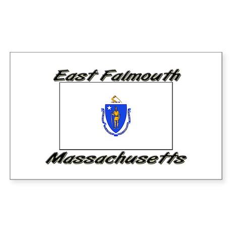 East Falmouth Massachusetts Rectangle Sticker
