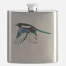 Magpie Bird in Flight Flask