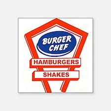1960's Burger Chef Logo Sticker