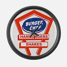 1960's Burger Chef Logo Large Wall Clock