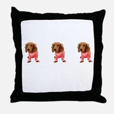 Majestic Pink Dachshund Cutie for Jen Throw Pillow