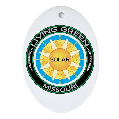 Living Green Missouri Solar Energy Oval Ornament