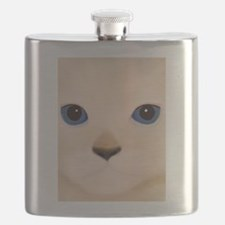Cat Face Blue Eyes Flask