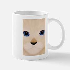 Cat Face Blue Eyes Mugs
