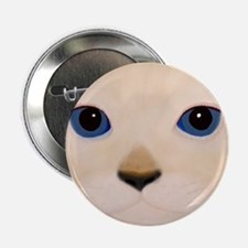 "Cat Face Blue Eyes 2.25"" Button"