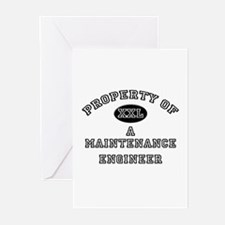 Property of a Maintenance Engineer Greeting Cards