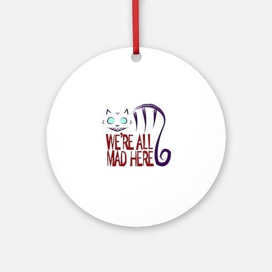 Cute Cheshire cat Round Ornament