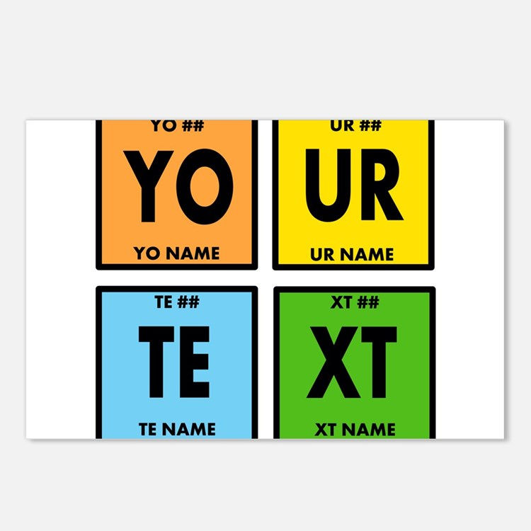 Your Text Periodic Elemen Postcards (Package of 8)