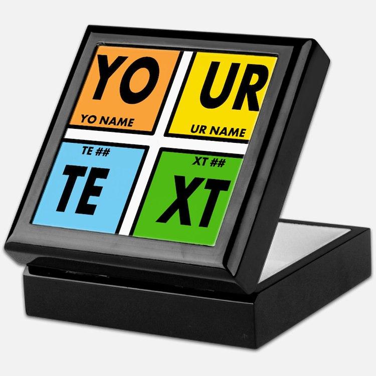 Your Text Periodic Elements Nerd Spec Keepsake Box