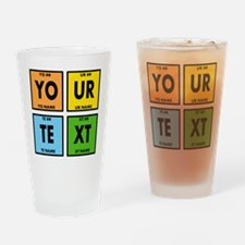 Your Text Periodic Elements Nerd Sp Drinking Glass