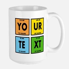 Your Text Periodic Elements Nerd Specia Ceramic Mugs