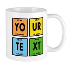 Your Text Periodic Elements Nerd Specia Small Small Mug