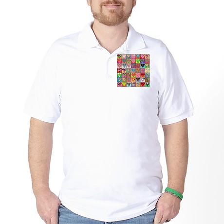 Heart Quilt Golf Shirt