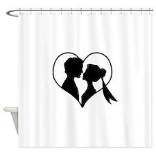 Wedding Heart Shower Curtain