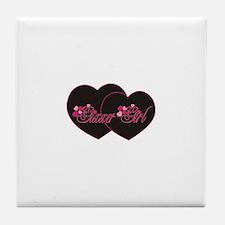GixxerGirl Hearts Tile Coaster