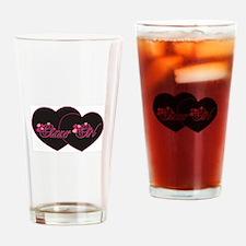 GixxerGirl Hearts Drinking Glass