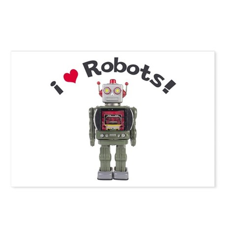 I Love Robots! Postcards (Package of 8)