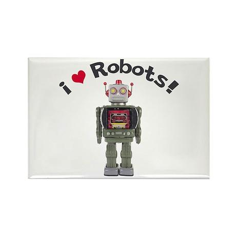 I Love Robots! Rectangle Magnet