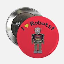 "I Love Robots! 2.25"" Button (10 pack)"