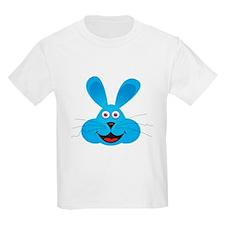 Cute Blue Bunny Face T-Shirt