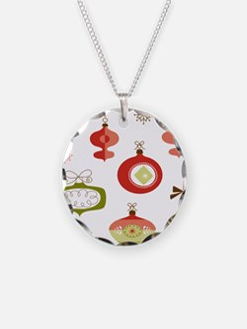 Mid Century Modern Ornament Pattern Necklace