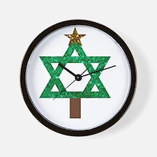 christmukkah christmas tree Wall Clock