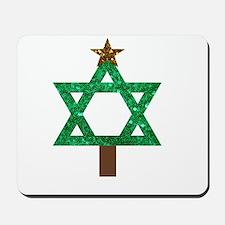 christmukkah christmas tree Mousepad