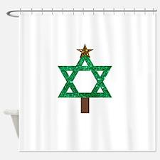 christmukkah christmas tree Shower Curtain