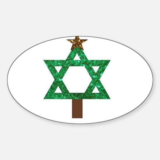 christmukkah christmas tree Decal