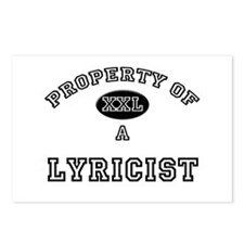 Property of a Lyricist Postcards (Package of 8)