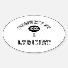 Property of a Lyricist Oval Decal