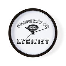 Property of a Lyricist Wall Clock