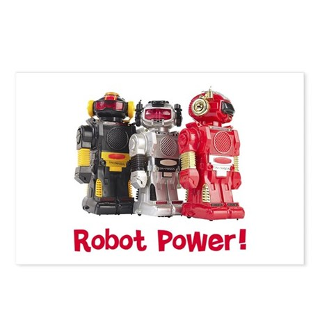 Robot Power! Postcards (Package of 8)