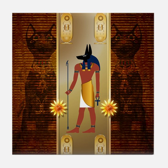 Anubis, ancient Egyptian god Tile Coaster