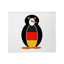 Penguin of Germany Throw Blanket