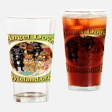 Angel Dogs of Byteland Drinking Glass