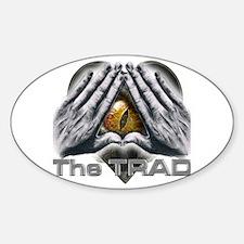 Funny Trad Sticker (Oval)