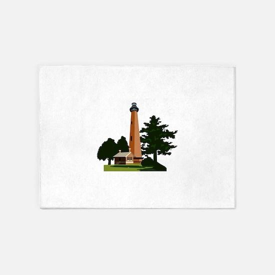Currituck Beach Lighthouse 5'x7'Area Rug