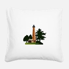 Currituck Beach Lighthouse Square Canvas Pillow