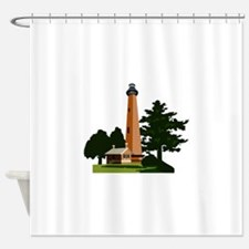 Currituck Beach Lighthouse Shower Curtain