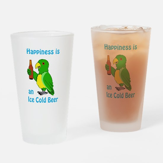 Ice Cold Beer Drinking Glass