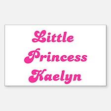 Little Princess Kaelyn Rectangle Decal