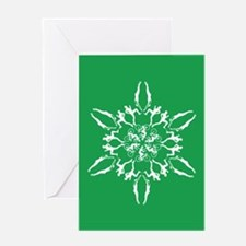 Unique Triathlon snowflake Greeting Card