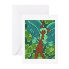 Green Fairy Greeting Cards (Pk of 20)