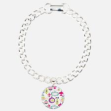 Mid Century Modern Christmas Pattern Bracelet