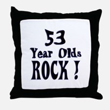 53 Year Olds Rock ! Throw Pillow