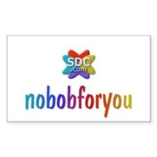 NOBOBFORYOU Products Rectangle Decal